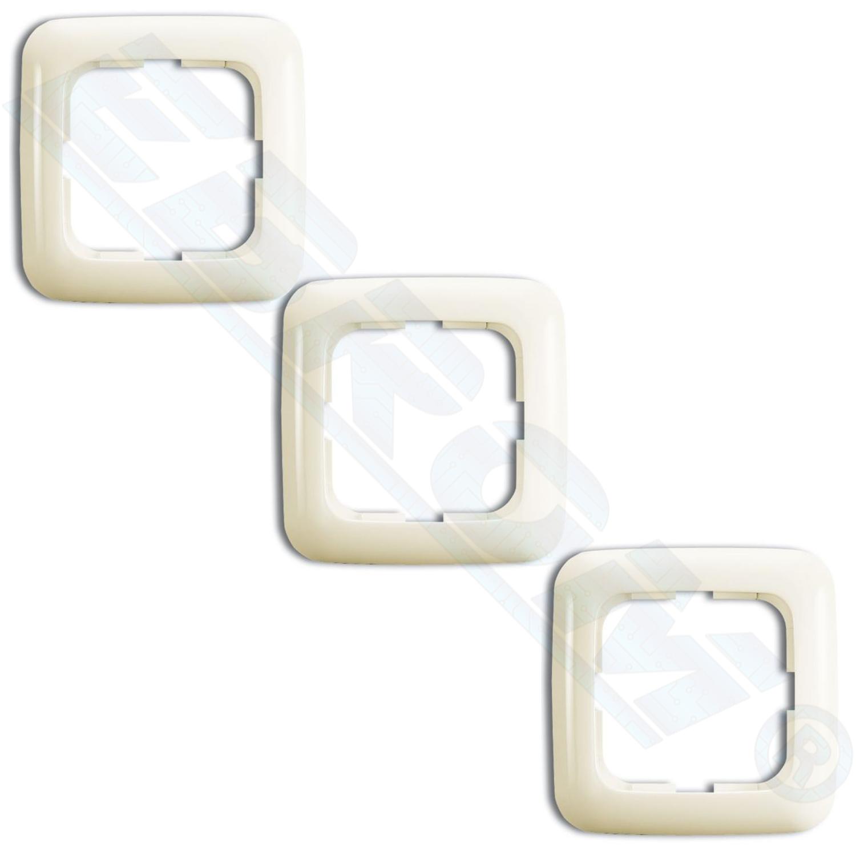 busch j ger 3er pack set 1fach rahmen 2511 212 cremewei duro 2000 abdeckrahmen ebay. Black Bedroom Furniture Sets. Home Design Ideas